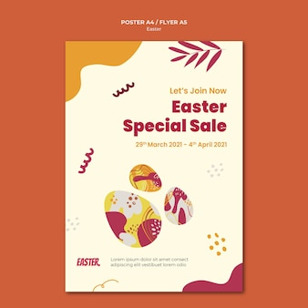 Easter day print template