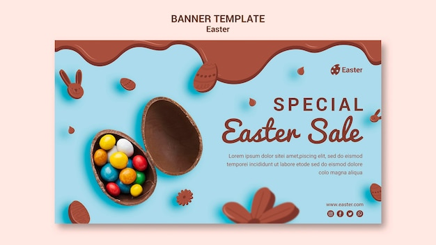 Easter day sale banner template