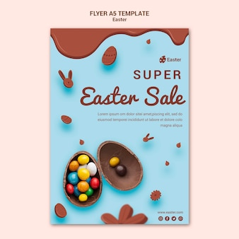 Easter day sale flyer template