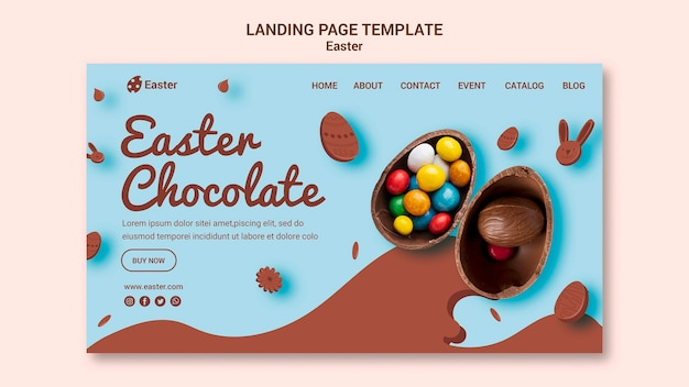 Easter day sale landing page Premium Psd