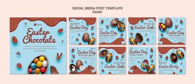 Easter day sale social media post