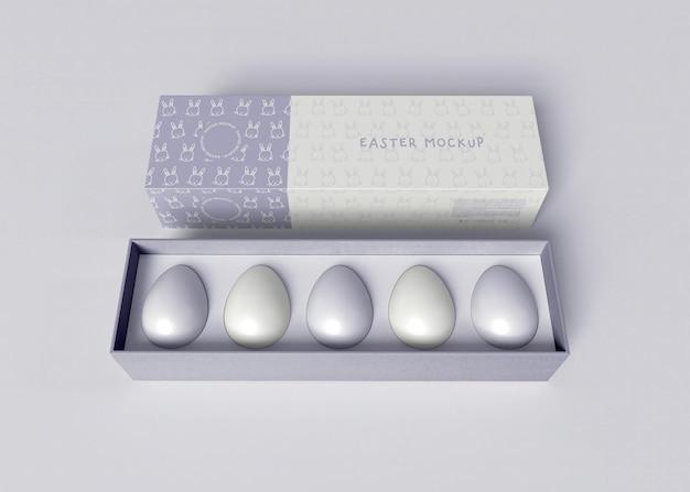 Мокап коробки с пасхальным яйцом