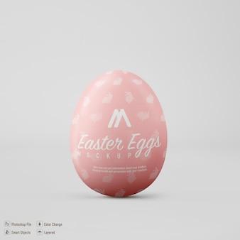 Easter egg mockup design isolated