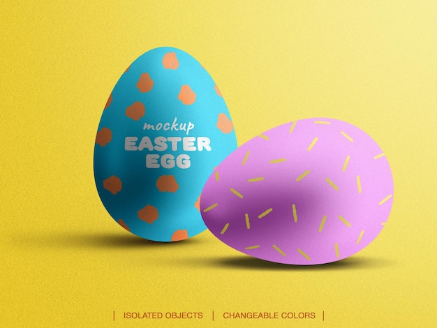 Easter egg mockup front view scene creator isolated