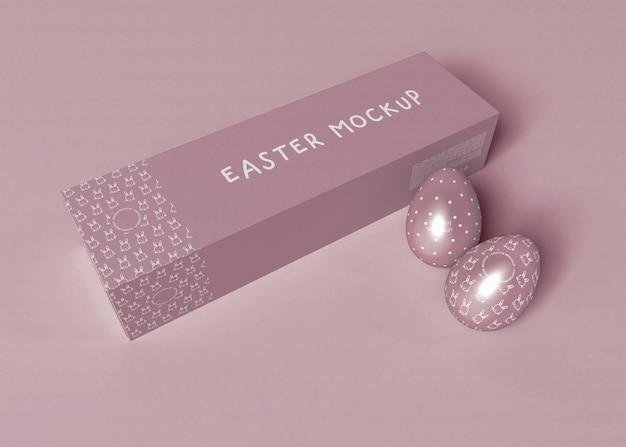 Пасхальное яйцо с макетом упаковки