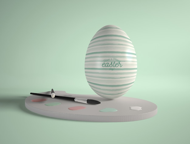 Easter egg with painting tools