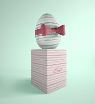 Easter egg with stripes theme