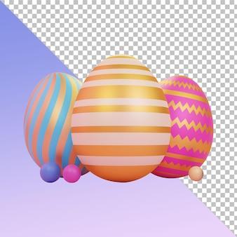 Пасхальные яйца 3d-рендеринга