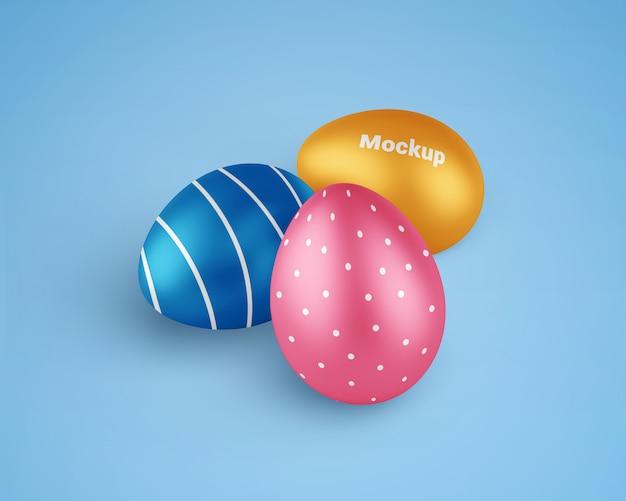 Easter eggs mockup