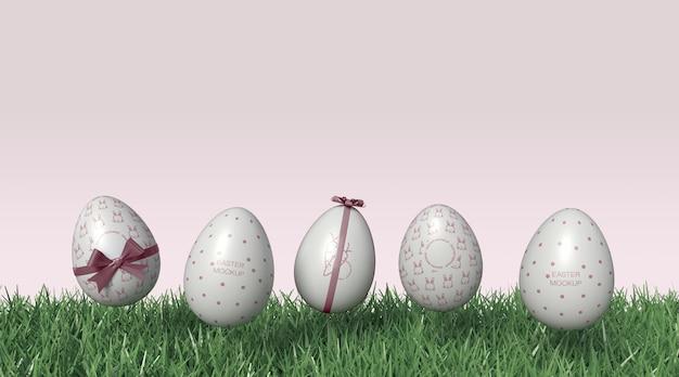 Мокап пасхальных яиц