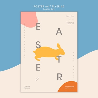 Easter flyer template with bunny
