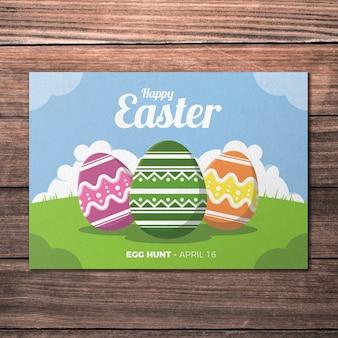 3 계란 부활절 인사말 카드 이랑