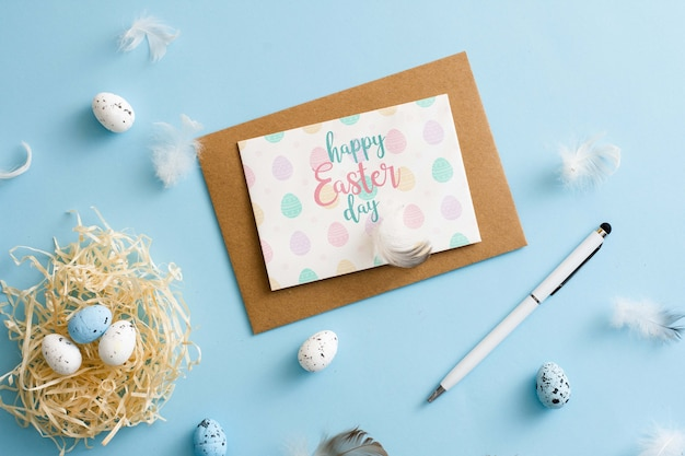 Easter greeting card with envelope