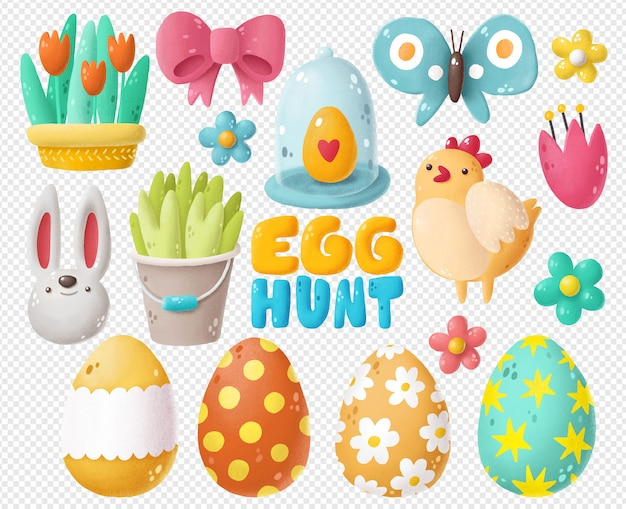 Easter hand drawn clipart