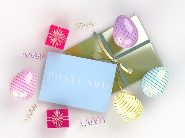 엽서의 부활절 휴가 창조적 인 모형