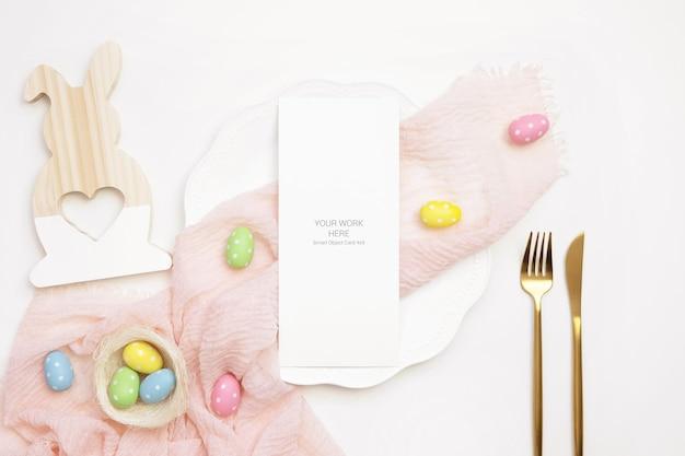 Easter mockup card 4x9 menu