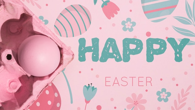 Easter mockup with copyspace for text or logo
