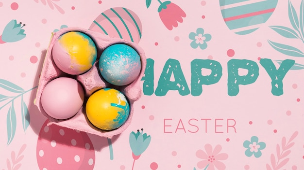 Easter mockup with copyspace