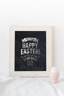 Easter mockup with frame