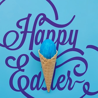 Easter mockup with ice cream