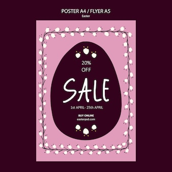 Easter sales flyer or poster template