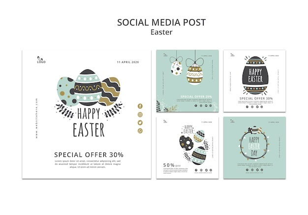 Easter social media post templates