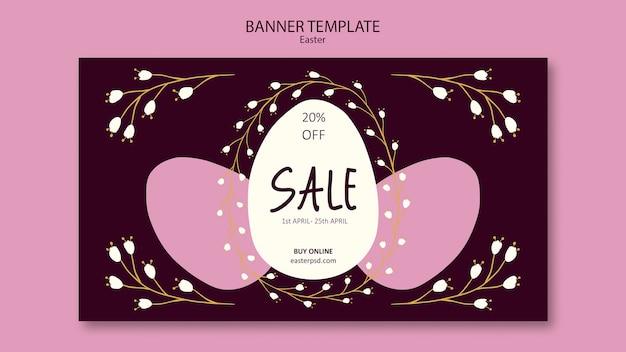 Easter weekend sales banner template