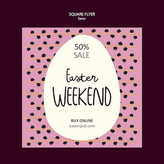 Easter weekend sales square flyer