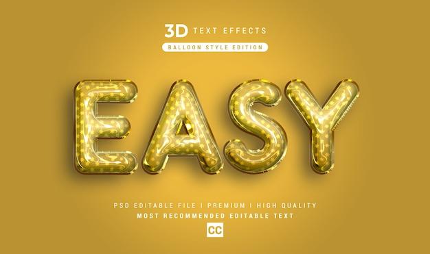 Легкий 3d-макет с эффектом стиля текста