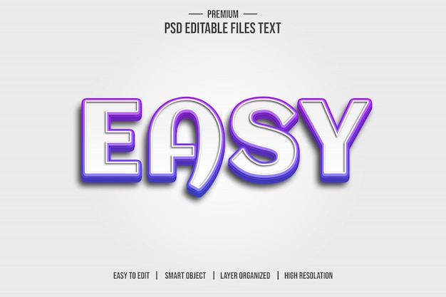 Easy 3d text style effect