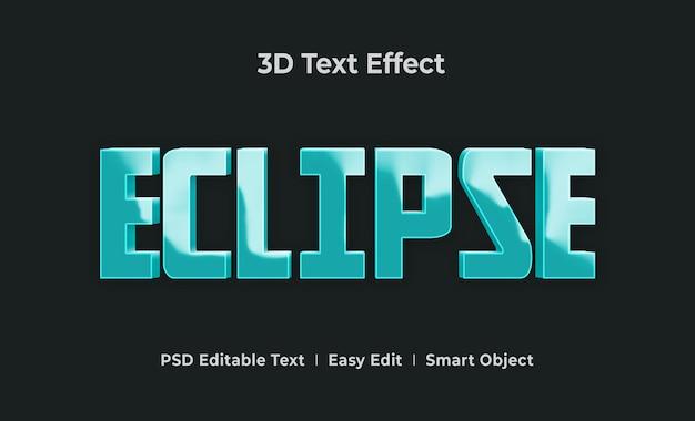 Шаблон эффекта стиля 3d-текста eclipse