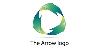 Eco arrows logo design