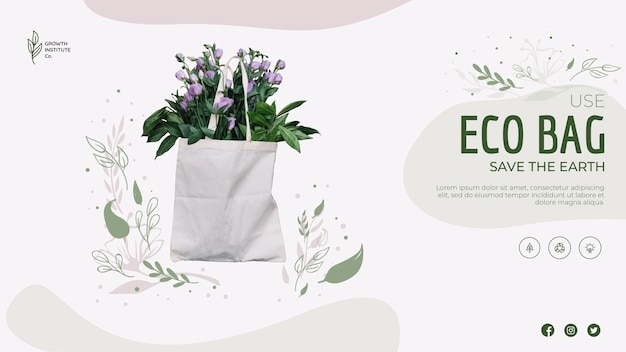 Eco bag for flowers and shopping