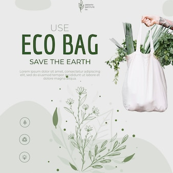 Eco bag riciclare per ambiente e shopping