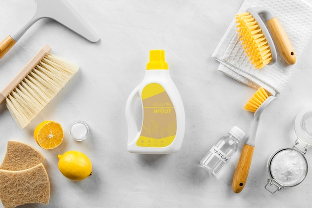 Eco cleaning products assortment