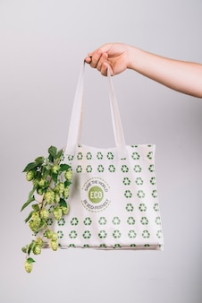 Eco friendly bag with mock-up