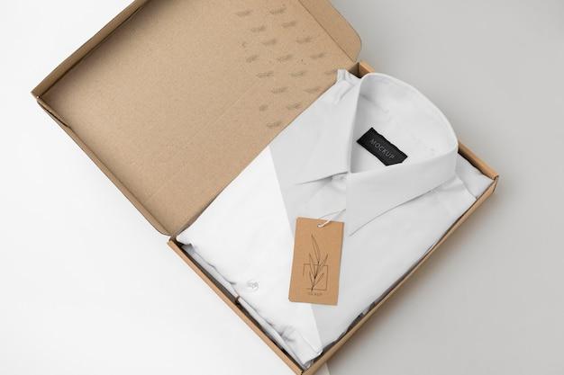 Eco-friendly price tag on formal shirtmock-up