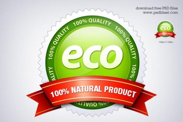 Eco friendly seal icon  psd