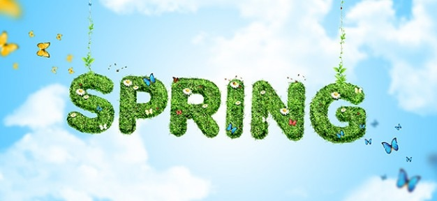 Eco spring wallpaper psd