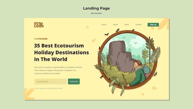 Eco旅游概念着陆页模板