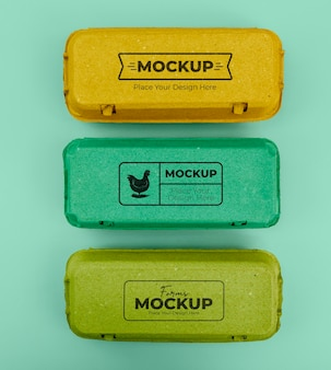 Ecologic eggs packaging mockup