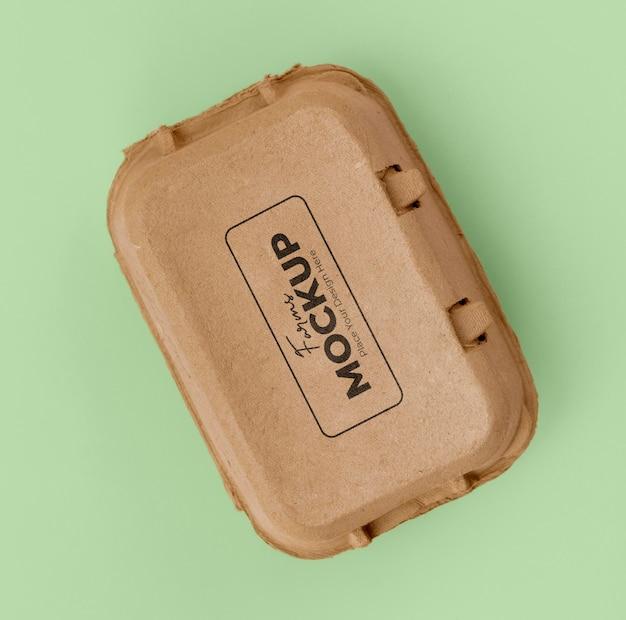 Экологический макет упаковки яиц