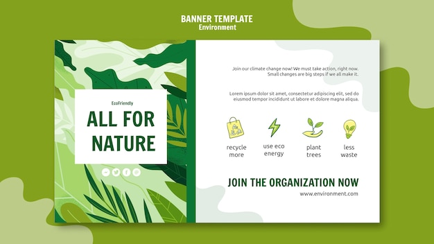 Ecological measures banner template
