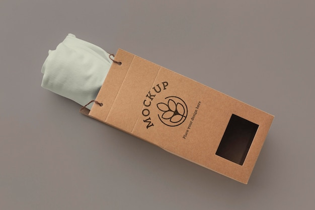 Ecological t-shirt packaging mockup