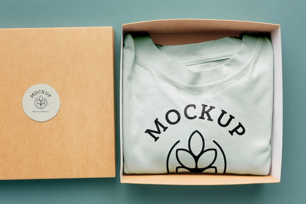Ecological tshirt packaging mockup