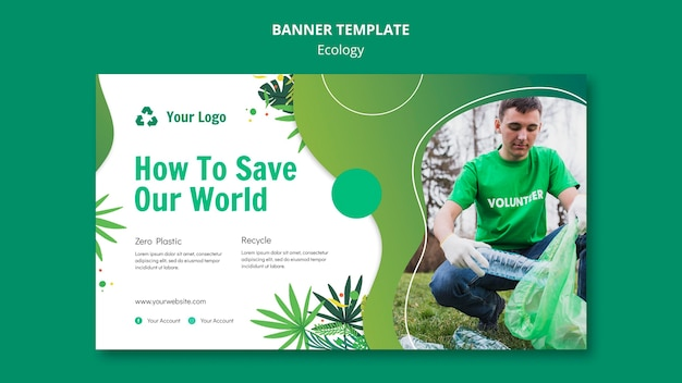 Ecology concept banner template