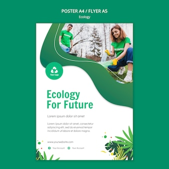 Ecology concept poster template