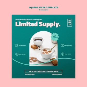 Ecommerce squared flyer template