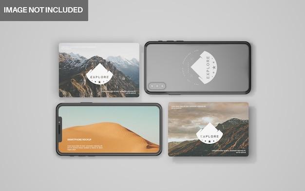 Редактируемый реалистичный 3d-макет смартфона