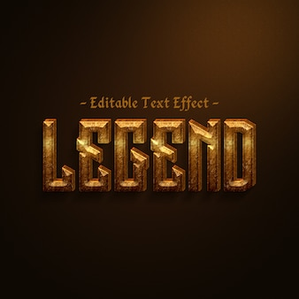 Editable ancient stone text effect
